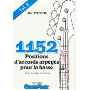 PERNETTE ALAIN - 1152 POSITIONS D'ACCORDS VOL.2