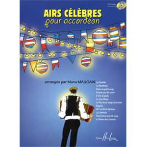 MAUGAIN MANU - AIRS CELEBRES + CD - ACCORDEON