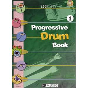 ROS EDDY - PROGRESSIVE DRUM BOOK 1 + CD - BATTERIE