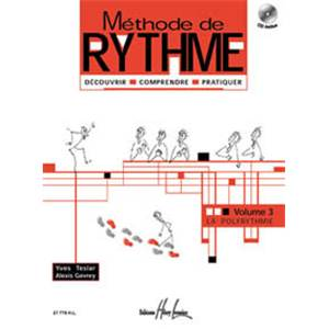 TESLAR/GEVRAY - METHODE DE RYTHME VOL.3 + CD - FORMATION MUSICALE