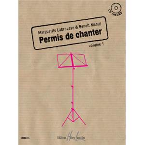 LABROUSSE M/MENUT B - PERMIS DE CHANTER VOL.1 + CD
