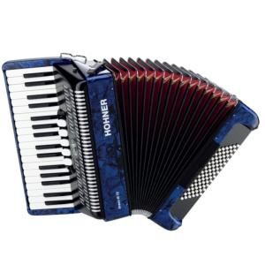 ACCORDEON PIANO HOHNER BRAVO III 72 BLEU