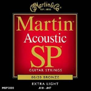 JEU DE CORDES GUITARE FOLK MARTIN MSP 3000 EXTRA LIGHT 10-47