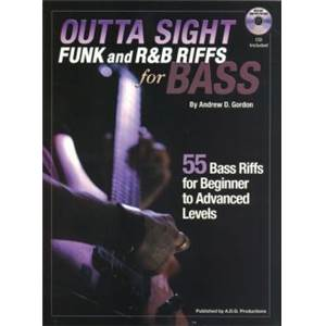 GORDON ANDREW D. - FUNK AND R&B RIFFS FOR BASS + CD