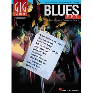 COMPILATION - BLUES SET THE PERFORMANCE GUIDE FOR BANDS VOCALS GUITAR KEYBOARD BASS DRUMS + CD