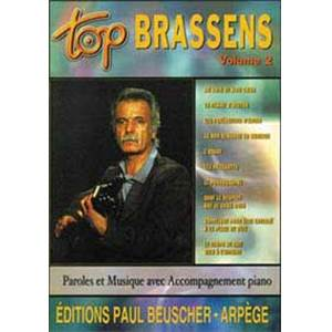 BRASSENS GEORGES - TOP BRASSENS VOL.2 PIANO SIMPLIFIE PAROLES ET ACCORDS