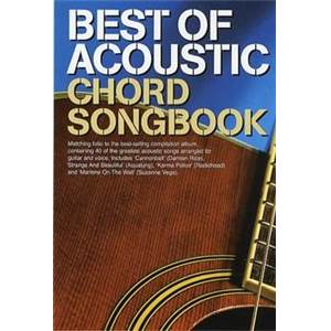 COMPILATION - THE BEST ACOUSTIC GUITAR CHORD SONGBOOK