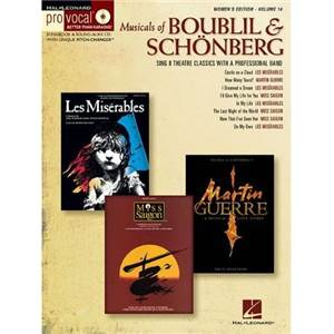 COMPILATION - PRO VOCAL FOR WOMEN SINGERS VOL.14 MUSICALS OF BOUBLIL AND SCHÖNBERG + CD