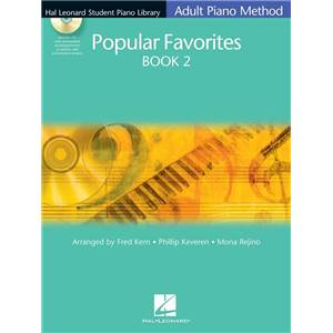 COMPILATION - HAL LEONARD STUDENT PIANO LIBRARY ADULT POPULAR FAVORITES VOL.2 + CD