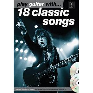 COMPILATION - PLAY GUITAR WITH 18 CLASSIC SONGS + 2CD