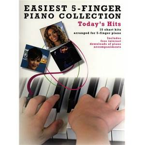 COMPILATION - EASIEST 5 FINGER PIANO COLLECTION : TODAY'S HITS