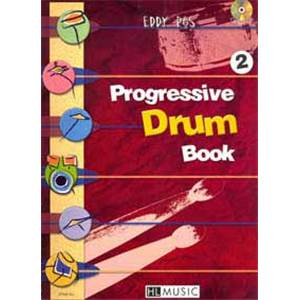 ROS EDDY - PROGRESSIVE DRUM BOOK 2 + CD - BATTERIE