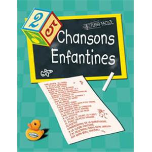 COMPILATION - 25 CHANSONS ENFANTINES PIANO FACILE