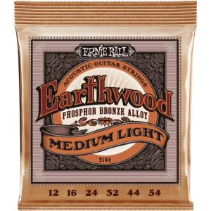 JEU DE CORDES GUITARE FOLK ERNIE BALL EARTHWOOD PHOSPHOR MEDIUM LIGHT 12-54