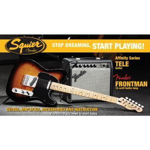 PACK GUITARE ELECTRIQUE SQUIER AFFINITY TELECASTER SUNBURST