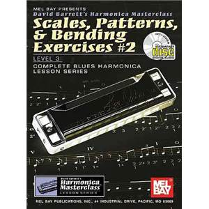 BARRETT DAVID - HARMONICA SCALES PATTERNSET BENDING EXERCICES VOL.2+ CD