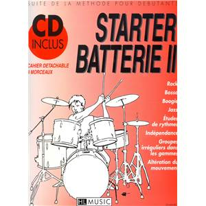 BILLAUDY PATRICK - STARTER BATTERIE VOL.2 + CD - BATTERIE