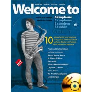 COMPILATION - WELCOME TO SAXOPHONE VOL.1 SIB + CD
