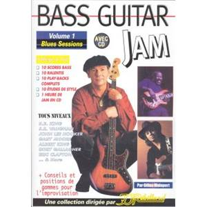MALAPERT GILLES - BASS GUITAR JAM BLUES SESSIONS VOL.1 + CD