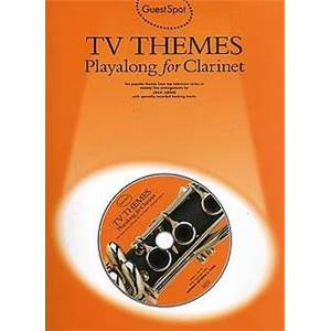 COMPILATION - GUEST SPOT TV THEMES PLAY ALONG FOR FLUTE + CD ÉPUISÉ