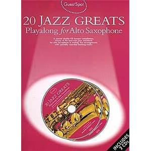 COMPILATION - GUEST SPOT JAZZ GREATS POUR SAXOPHONE ALTO + 2CDS