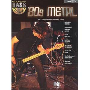 COMPILATION - BASS PLAY-ALONG VOL.16 80S METAL + CD