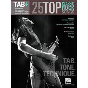 COMPILATION - TAB+ 25 TOP CLASSIC SONGS TAB. TONE TECHNIQUE GUITAR RECORDED VERSION