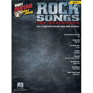 COMPILATION - EASY GUITAR PLAY ALONG VOL.009 ROCK SONGS FOR BEGINNERS + CD