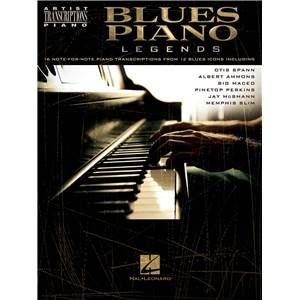 COMPILATION - THE BLUES PIANO LEGENDS 16 NOTE FOR NOTE PIANO TRANSCRIPTIONS