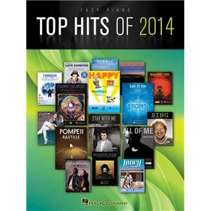 COMPILATION - TOP HITS OF 2014 EASY PIANO SONGBOOK