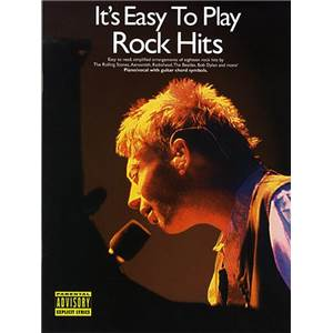 COMPILATION - IT'S EASY TO PLAY ROCK HITS PIANO FACILE/VOIX/GUITARE
