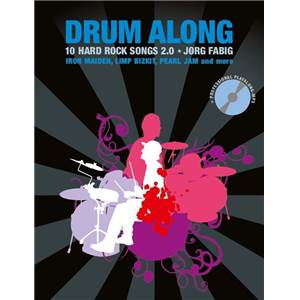 COMPILATION - DRUM ALONG 10 HARD ROCK SONGS 2.0 + CD