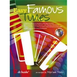 COMPILATION - EASY FAMOUS TUNES FOR ACCORDION + CD