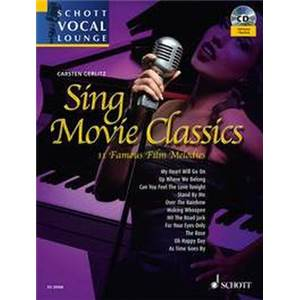 GERLITZ CARSTEN (ARR) - SING MOVIE CLASSICS (11 MELODIES DE FILMS) + CD VOIX MOYENNE / PIANO