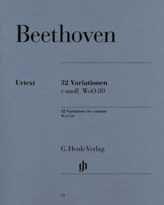 BEETHOVEN - VARIATIONS WoO 80 Nos 1-32 DO MINEUR - PIANO