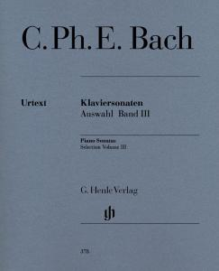 BACH CARL PHILIPP EMANUEL - SONATES CHOISIES VOLUME 3 - PIANO