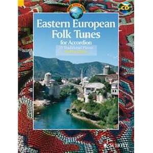 EASTERN EUROPEAN FOLK TUNES (33 AIRS TRADITIONNELS D'EUROPE DE L'EST) + CD - ACCORDEON