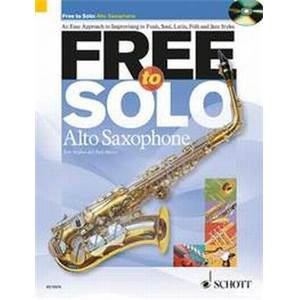 HUGUES / HARVEY - FREE TO SOLO SAXOPHONE MIB + CD