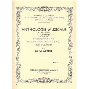 MERIOT MICHEL - ANTHOLOGIE MUSICALE VOL.1 25 AIRS A CHANTER