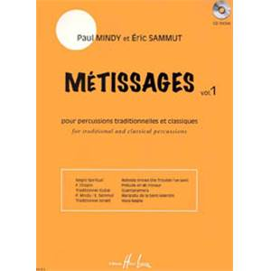 MINDY/SAMMUT - METISSAGES VOL.1 + CD - PERCUSSION