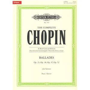 CHOPIN FREDERIC - BALLADES OP.23 38 47 52 POUR PIANO