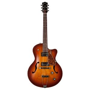 GUITARE GODIN 5TH AVENUE CUTAWAY KINGPIN II COGNAC BURST + ETUI