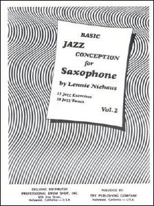 NIEHAUS LENNIE - JAZZ CONCEPT.SAX BASIC VOL 2 + CD