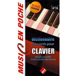 HIT DIFFUSION - DICTIONNAIRE D'ACCORDS POUR CLAVIERS MUSIC EN POCHE N.10