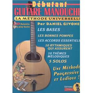 GIVONE DANIEL - DEBUTANT GUITARE MANOUCHE LA METHODE UNIVERSELLE + CD