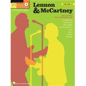 LENNON / MCCARTNEY - PRO VOCAL FOR MALE SINGERS VOL.19 + CD