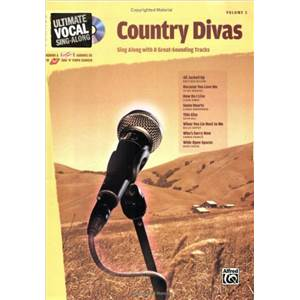 COMPILATION - ULTIMATE VOCAL VOL.3 COUNTRY DIVAS 8 TRACKS FEM + CD