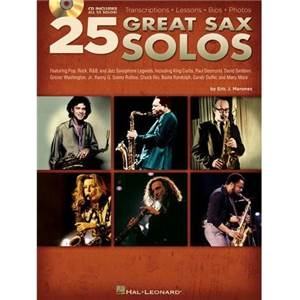 COMPILATION - 25 GREAT SAXOPHONE SOLOS + CD