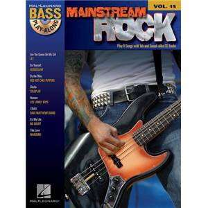 COMPILATION - BASS PLAY ALONG VOL.15 MAINSTREAM ROCK + CD