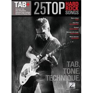 COMPILATION - TAB+ 25 TOP HARD ROCK SONGS TAB. TONE TECHNIQUE GUITAR RECORDED VERSION